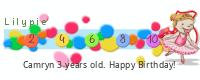 Lilypie Third Birthday (0Tci)
