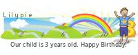 Lilypie harmadik születésnapját tickers