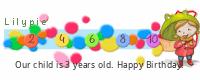 Lilypie Third Birthday (Vsp0)