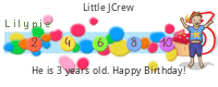 Lilypie Third Birthday (h6o2)